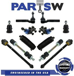 99 07 Sierra Silverado 1500 Front Upper Lower Ball Joint Tierod Sway Bar 2wd