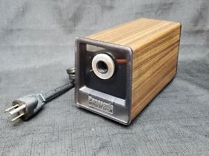 Panasonic Electric Pencil Sharpener Autostop Kp 77 Wood Grain Barely Used