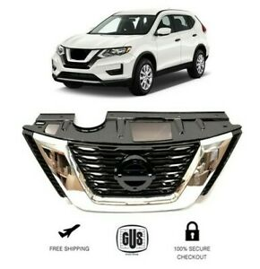 Front Chrome Bumper Grill Fits 2017 2018 Nissan Rouge Grille