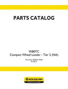 New Holland W80tc Compact Wheel Tractor Loader Parts Catalog