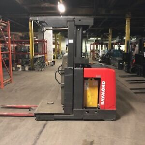 2012 Raymond Used Forklift Order Picker Low Hours Battery Included