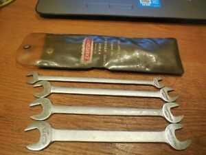Craftsman 4 Piece Tappet Wrench Set No 44452 Thin Wrenches With Pouch