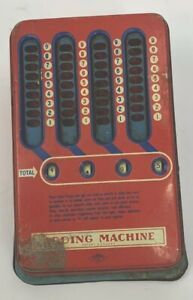 Vintage Wolverine Mechanical Adding Machine 1940s Pull Dial Calculator
