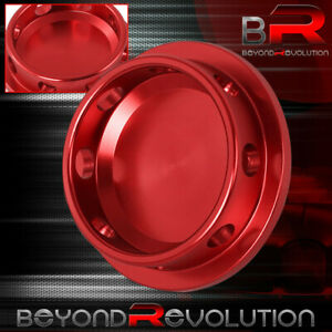 Red Aluminum Engine Oil Fill Replacement Cap For Universal Mazda Thread