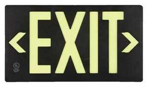 Accuform Plw412bk Ultra glow Exit Sign exit 8 3 4 x15 3 8