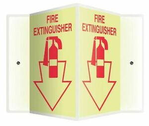 Accuform Psp362 Fire Extinguisher Sign 12x14
