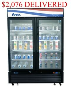 Two 2 Glass Door Commercial Refrigerator Cooler Merchandiser Nsfetl Cert 44cu Ft