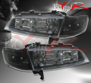 1994 1997 Honda Accord Lx Dx Ex 2 4dr Black Jdm Head Lights Corner Lamps Set