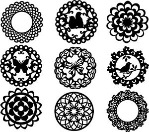 Dxf For Cnc Of Plasma Laser And Router Cut Decorative Round Grille