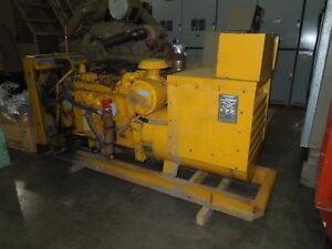 Caterpillar 155kw 240 480v 3ph Standby Diesel 3306 Generator Set Used