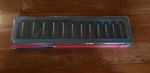 New Snap On 312imms 1 2 Semi Deep 15 25 27mm Impact Socket Set Free Ship