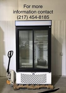 Carrier Commercial Sliding 2 Door Refrigerator Merchandiser