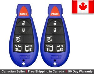 2x New Blue Keyless Replacement Key Fob Entry Remote For Chrysler Dodge Caravan