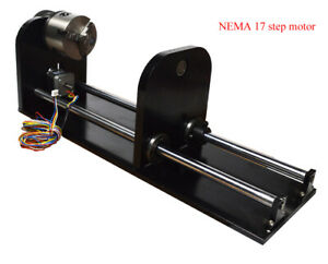 Rotary Attachment cylinder co2 Laser Engraver Engraving Machine 4 Wires Motor