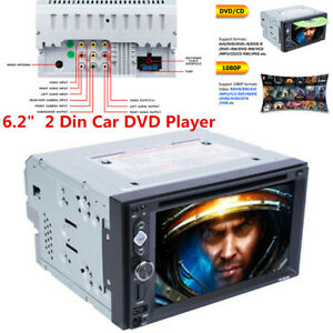 Double 2din Touch Screen 6 2 Car Classic Stereo Dvd Mp5 Player Bluetooth Radio