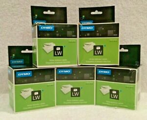 Dymo 30320 Lw White Address Labels 2 Rolls 260 Ea 1 1 8 X 3 1 2 Lot Of 5 Boxes