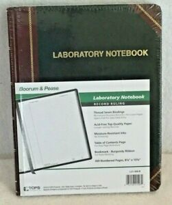 Boorum Pease Special Laboratory Notebook Black L21 300r 10 3 8 X 8 1 8 New