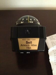 Vintage Original Airguide Auto Compass Amoco Atlas Tba Accessory Car Truck Boat