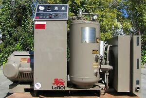 Leroi 40 Hp Rotary Screw Air Compressor Air Cooled Ingersoll Rand Compair 50