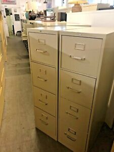 4 Drawer Letter Size File Cabinet By Hon Office Furniture Model L32264 In Putty