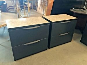 2 Drawer Lateral Size File Cabinet By Haworth Office Furniture W Laminate Top