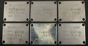 1963 1964 Corvette Fuel Injection Distributor I D Plate Display Lot Of 5