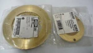New Hubbell Raco 6285 53082 Brass Floor Box Carpet Flange Round Cover