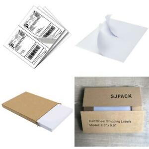 Sjpack 1000 Half Sheet Self Adhesive Shipping Labels 8 5 X 5 5 Address Labels