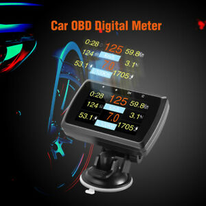 Us Hud Head Up Display Obd2 Fuel Consumption Speedometer Car Diagnostic Scanner