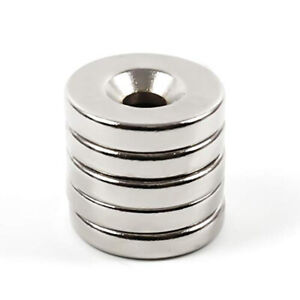 N35 Countersunk Ring Round Magnets Hole Rare Earth Neodymium 5mm Usa