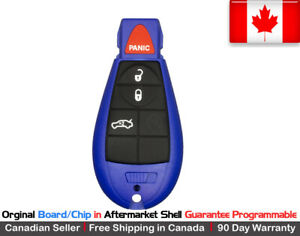1x Oem New Replacement Keyless Entry Remote Blue Key Fob For Chrysler Dodge