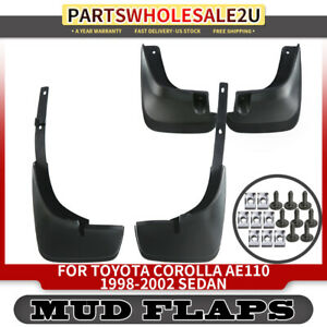 Splash Guards Mud Flaps Rh Lh 4 Pcs For Toyota Corolla E110 1998 2002 Sedan