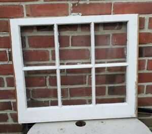 20 24 6 Pane Wood Window Rustic Antique Vintage Farmhouse Wedding Decor Art