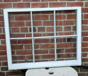 28 36 6 Pane Wood Window Rustic Antique Vintage Farmhouse Wedding Decor Art