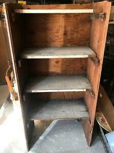 Primitive Vintage Salvage Wood Wooden Shelves Farmhouse Decor Store Display