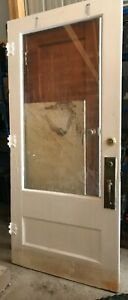 D7 Antique Vintage Wood Wooden Interior Exterior Door Glass