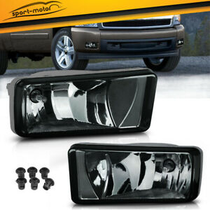 For 2007 2013 Chevy Silverado 1500 Tahoe Smoke Bumper Fog Light Lamps Left Right