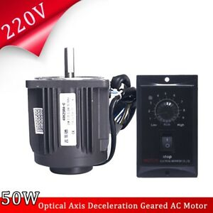 220v 25w 1250rpm Optical Axis Deceleration Geared Ac Motor With Speed Controller