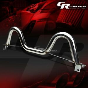 For 89 05 Mazda Miata Mx5 Dual Twin Loop Chrome Stainless Roll Cage Bar Rollbar