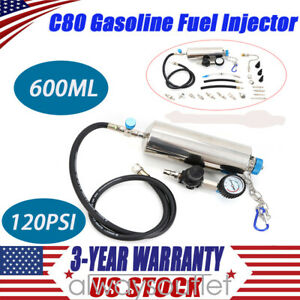 C80 Non Dismantle Cleaner Injector Gasoline Fuel Injector Washing Tool 120psi Us
