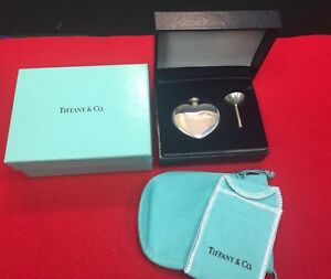 Vintage Tiffany Co Sterling Silver Heart Perfume Decanter Bottle B 041