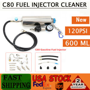 Non dismantle Fuel Injector Tester Cleaner Fuel System Cleaning Kit 120psi C80
