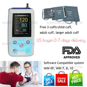 Contec Abpm50 Ambulatory Blood Pressure Monitor software 24h Nibp Holter 3cuffs