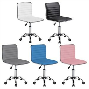 Office Chair Low Back Armless Desk Chair Ribbed Armless Swivel Task Chair