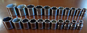 Usa Made Craftsman Industrial 3 8 Drive Metric Sae Inch Socket Sets 22pc