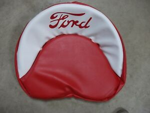 Ford Tractor Tie Pan Seat Cover red White New Made In Usa 8n 2n 9n 600 800
