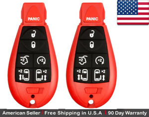2x New Keyless Entry Remote Key Fob For Volkswagen Vw Chrysler Dodge Caravan