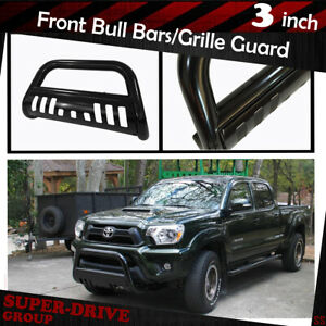 For 2002 2005 Dodge Ram 1500 Bull Bar Skid Plate Grille Guard Black Front Bumper
