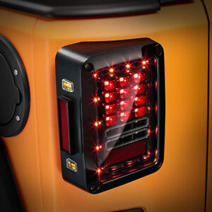 Smoked Cover Led Tail Lights For 2007 2018 Jeep Wrangler Jk Jku Sahara Unlimited