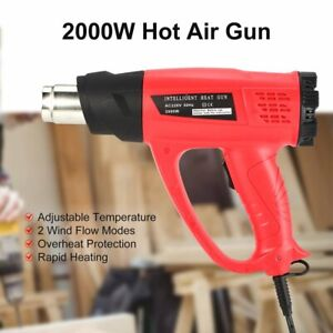 2000w Hot Air Gun Thermostat Heat Gun Heat Air Gun Blower Thermal Power Tool 0o